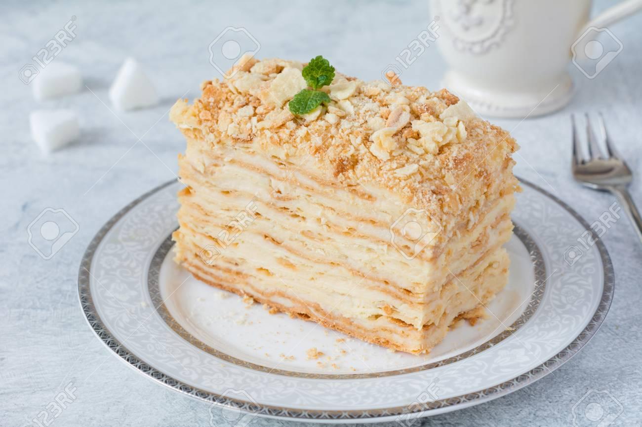 Napoleon Kuchen Russische Kuche Kuchen Mit Geback Sahne