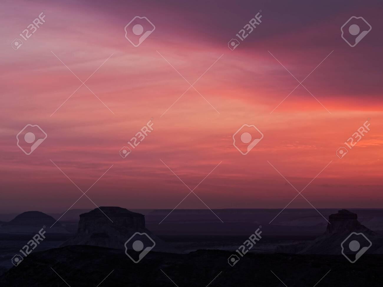 The tract Basira at sunset. Kazakhstan 2019. Expedition site Tourist.ru. - 131608106