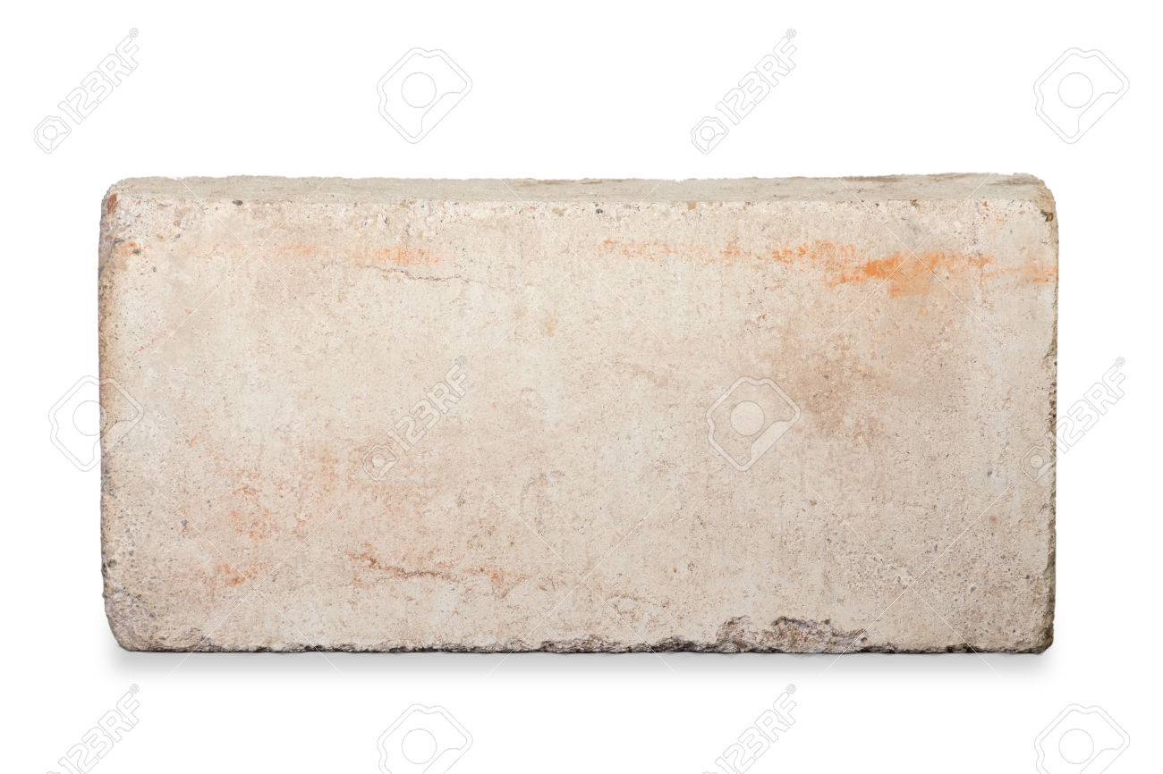 Old red brick isolated on white background - 38213689