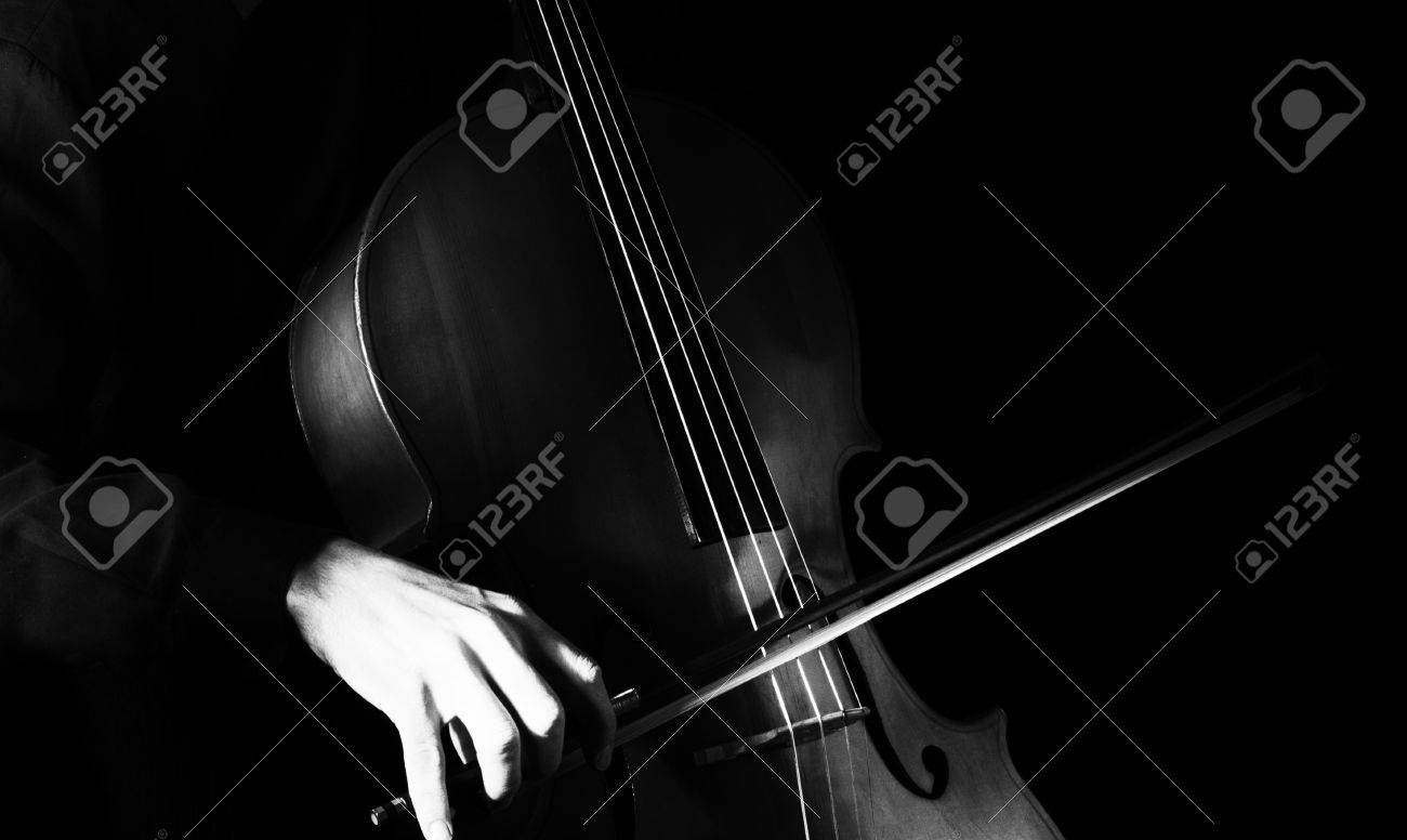 Man playing the cello. Classical music - 56293848