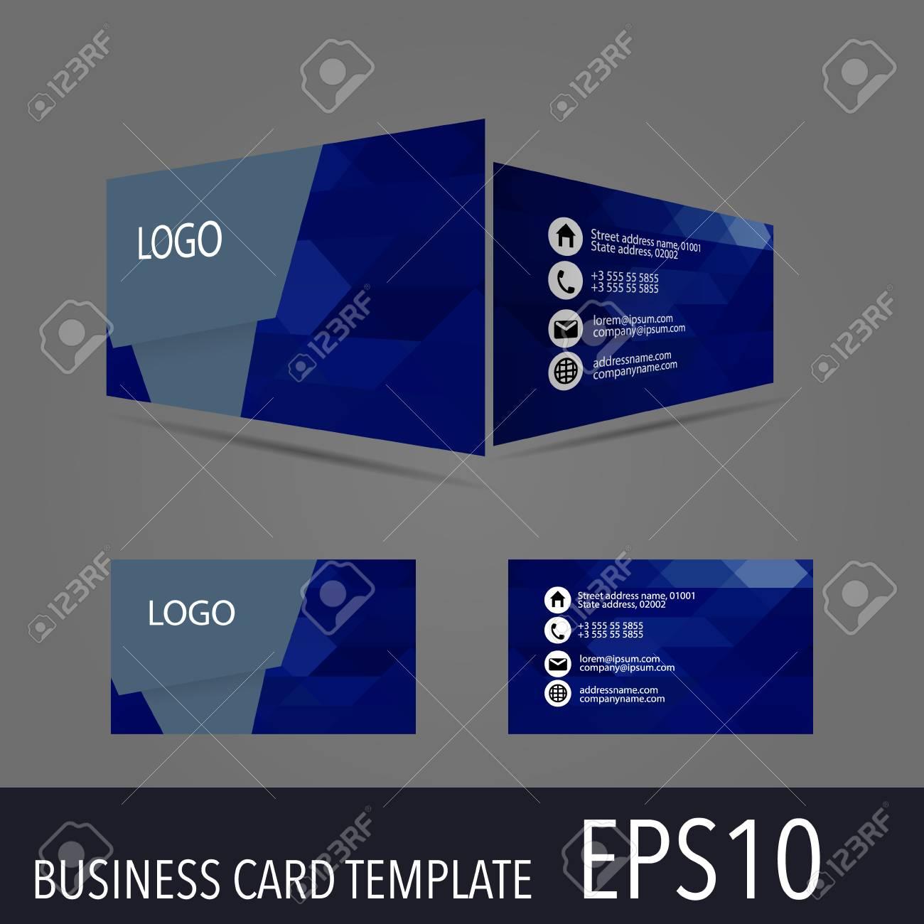 3d vector business card template modern simple luxury standard