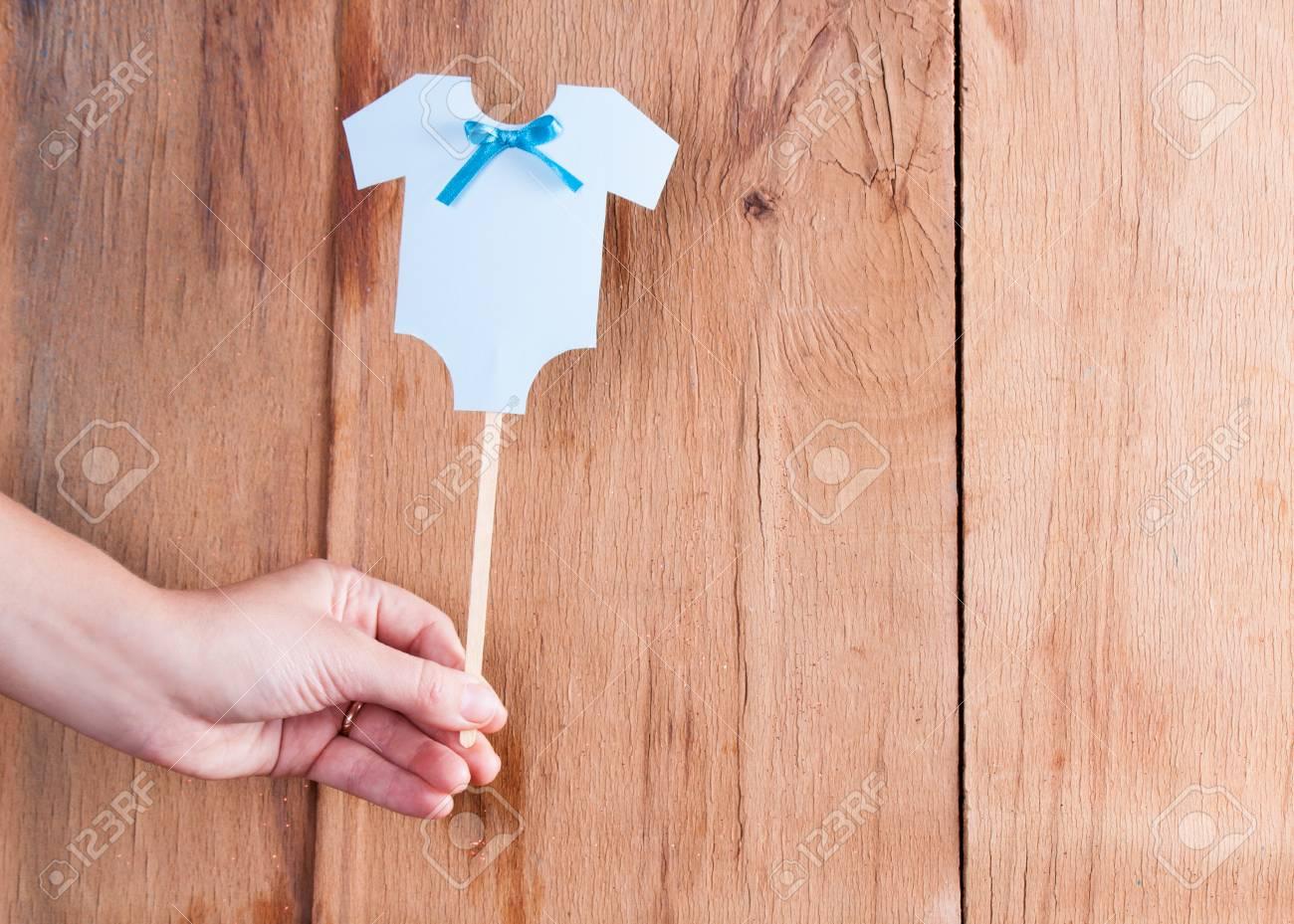 Décoration pour bébé douche bureau en bois guirlande de couleur