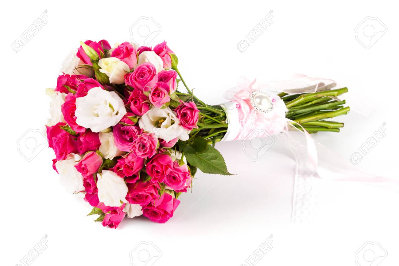 Bridal Bouquet Of Fresh Flowers. Wedding. Nature Flower Stock Photo ...