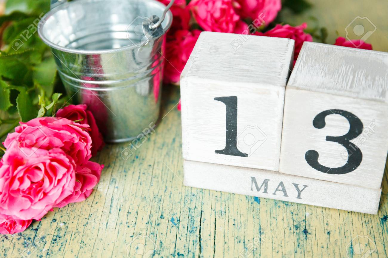 Roses and calendar 13 may happy mothers day greeting card stock roses and calendar 13 may happy mothers day greeting card stock photo m4hsunfo