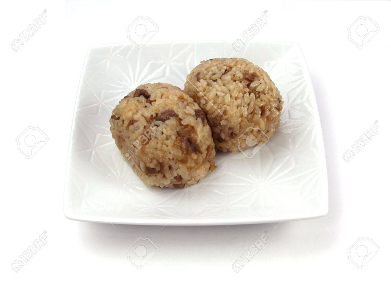 two rice ball Stock Photo - 2801771