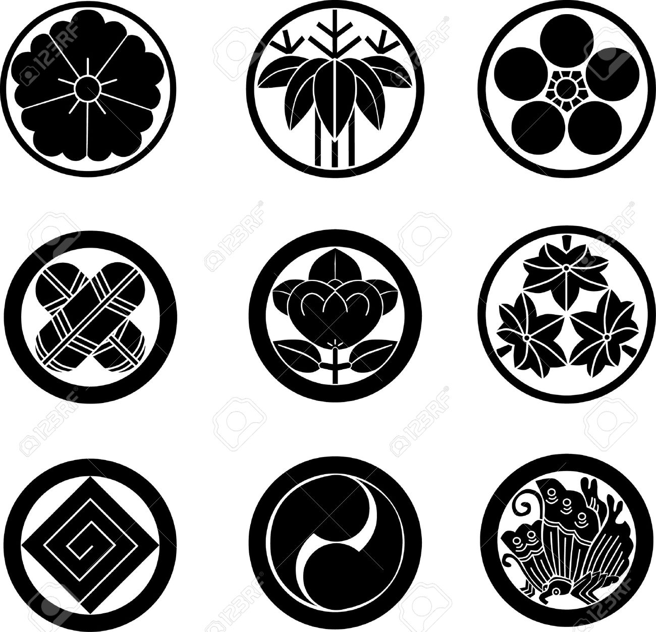 Japanese Family Crests - 8817989