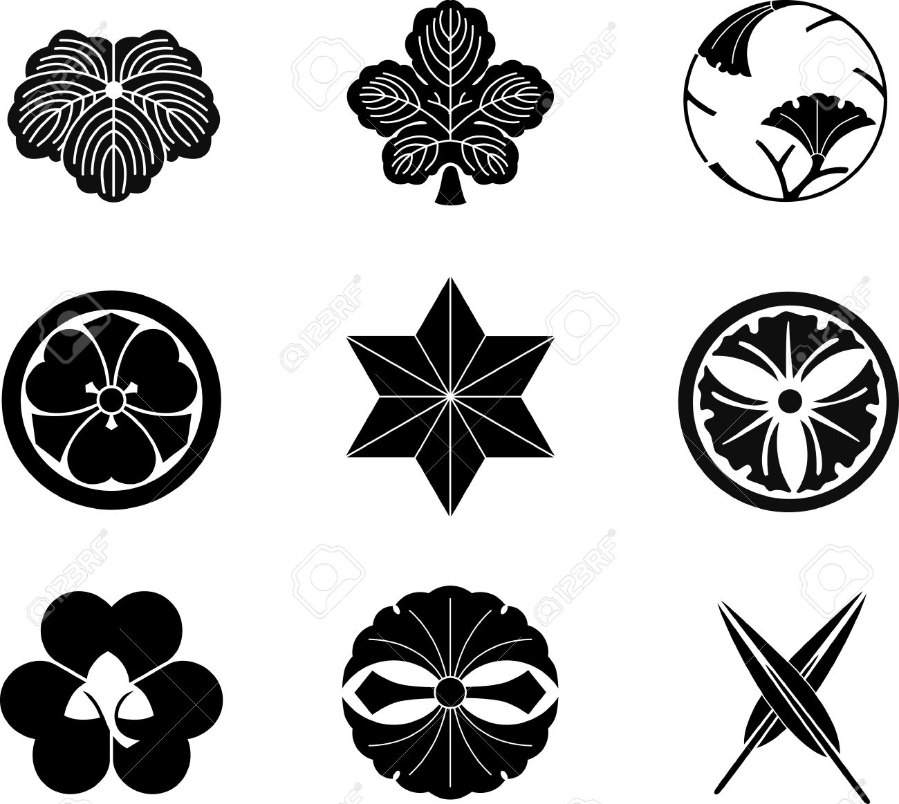 Japanese family crests vector 13 royalty free cliparts vectors japanese family crests vector 13 stock vector 9719258 biocorpaavc