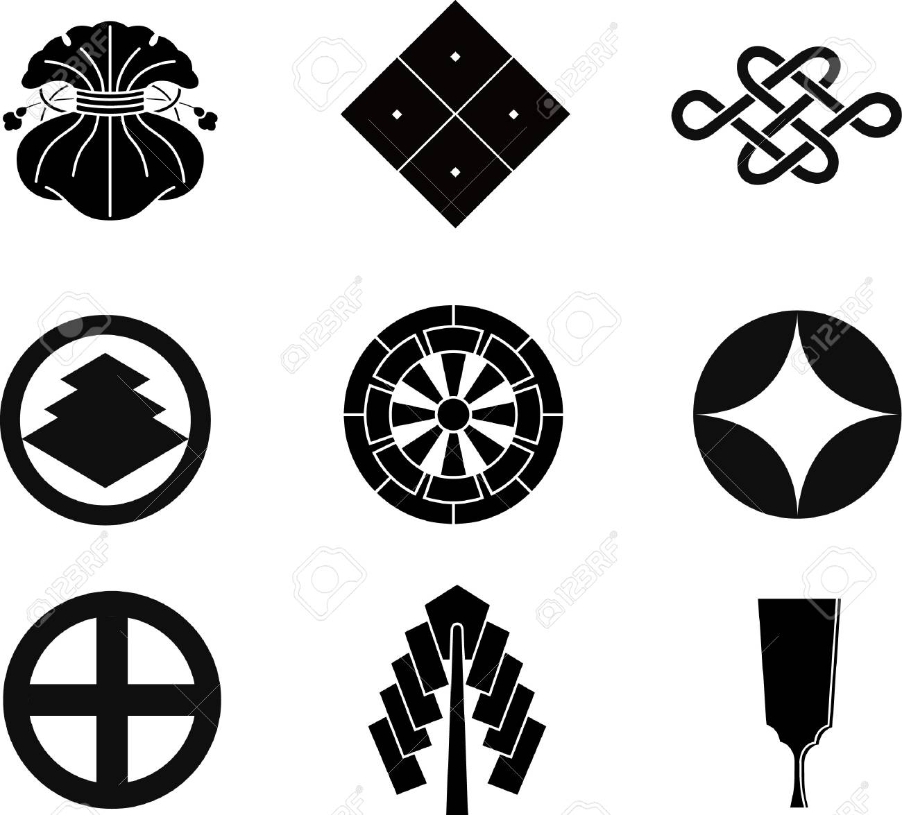 Japanese family crests royalty free cliparts vectors and stock japanese family crests stock vector 10458203 biocorpaavc Gallery