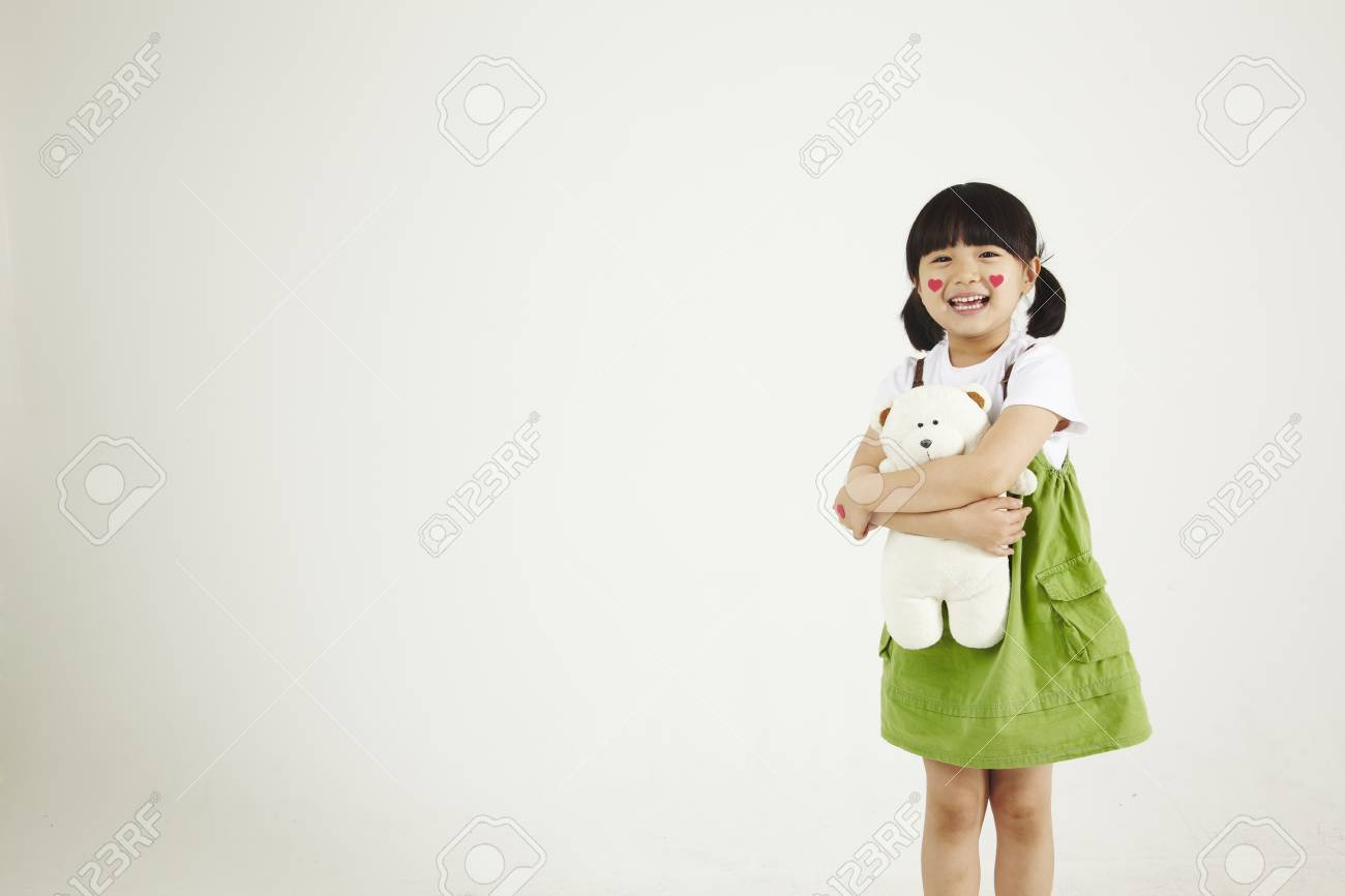 child playing clinic with soft-toys Stock Photo - 16734829