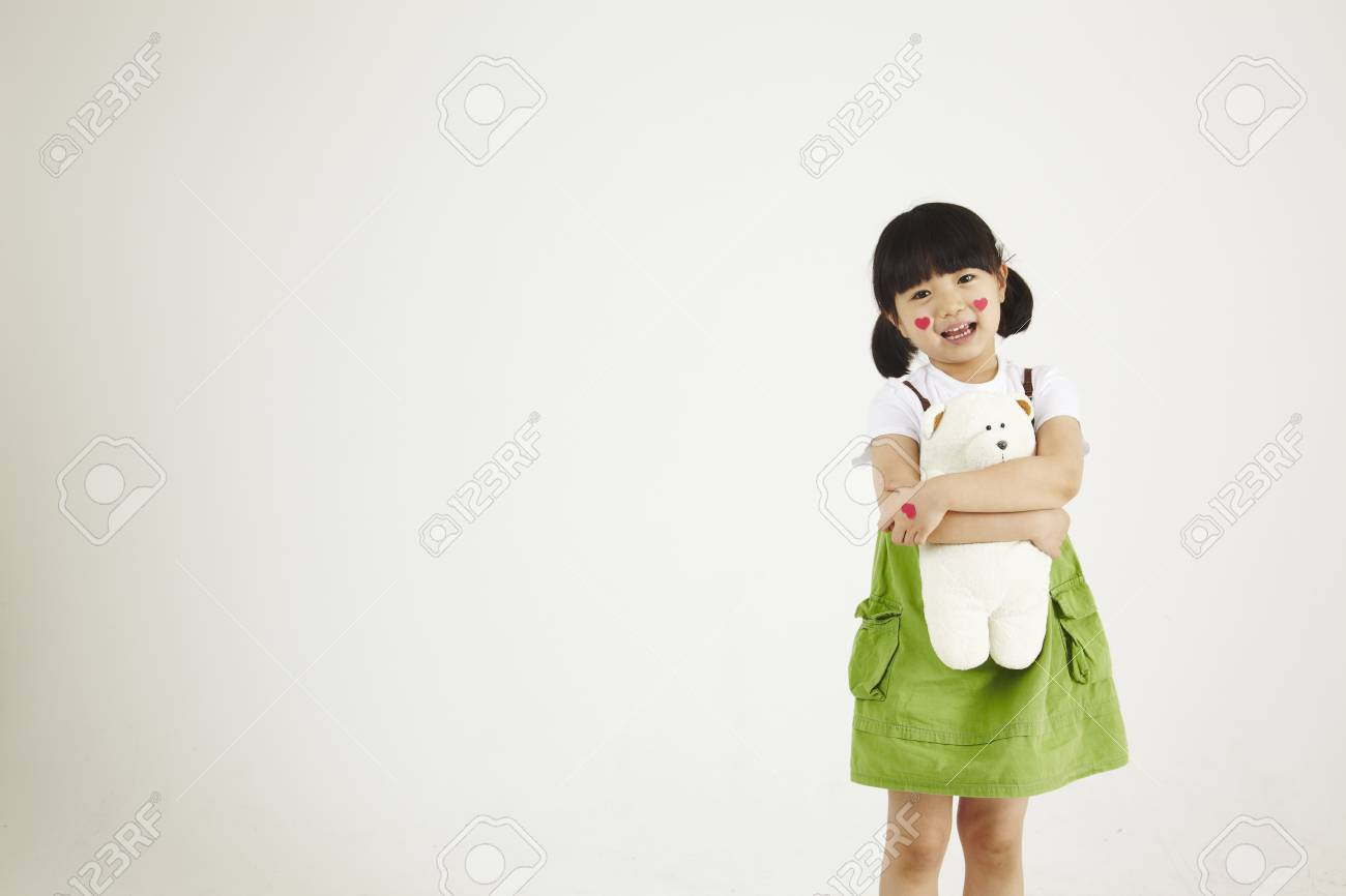 child playing clinic with soft-toys Stock Photo - 16734833