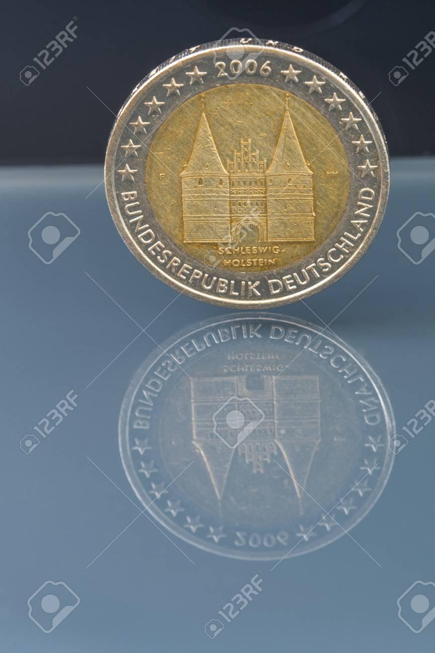 2 Euro Münze Geld Eur Währung Der Europäischen Union Deutschland
