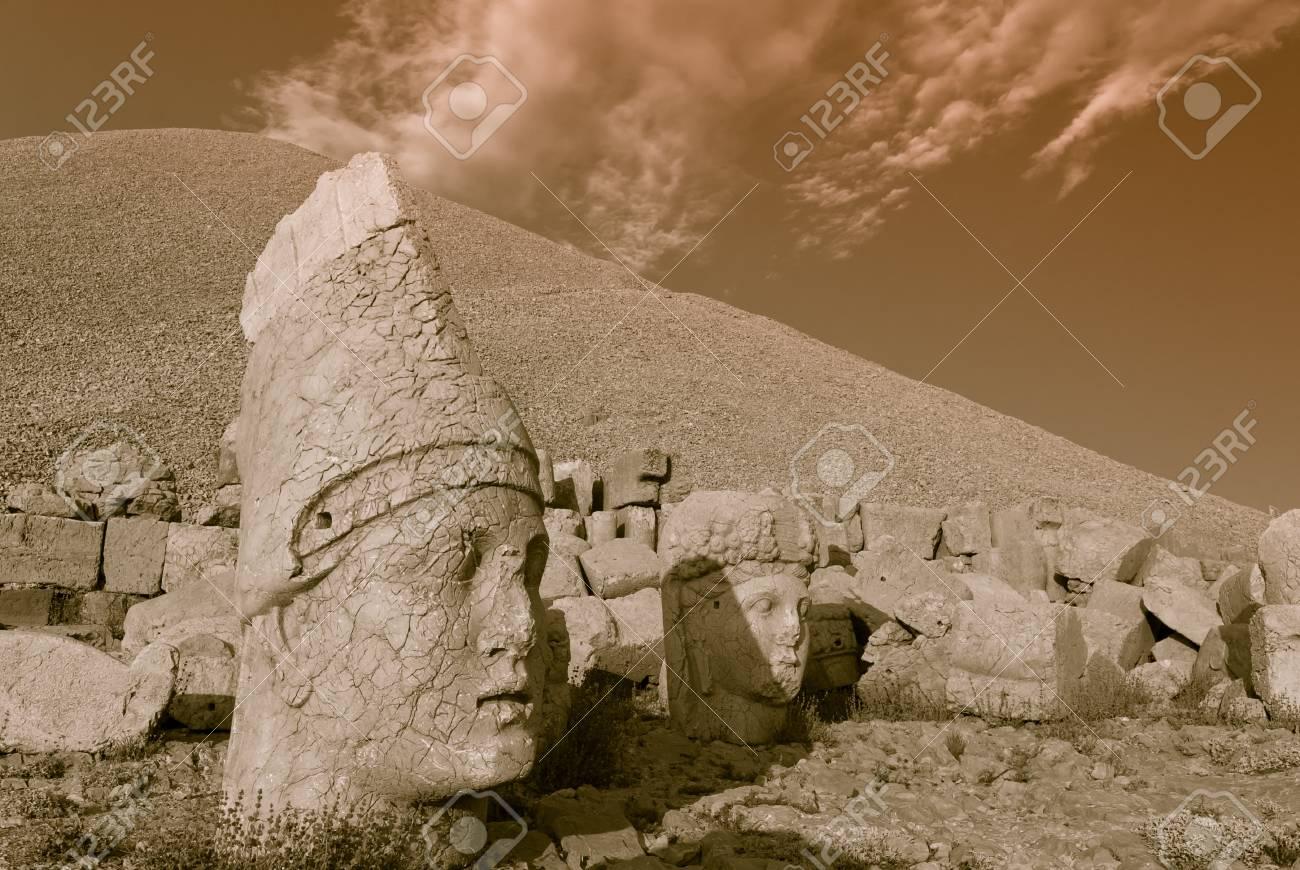 Nemrut Dagi in Anatolia - Turkey Stock Photo - 18217407