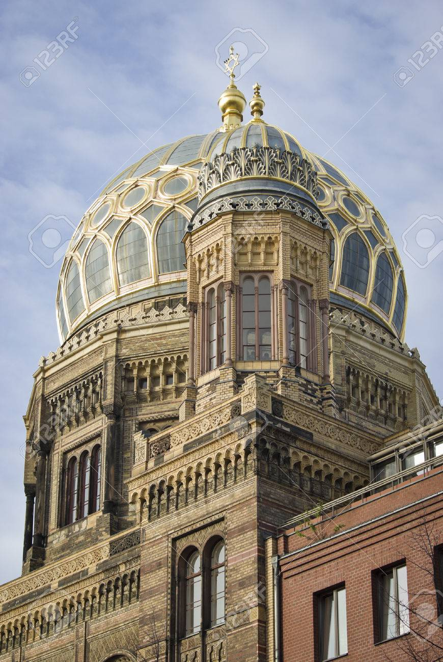 New Synagogue, A Jewish Place Of Worship In Berlin, Germany Stock ...