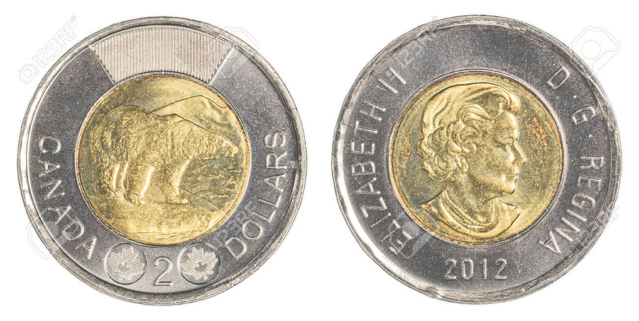 2 Kanadische Dollar Münze Lizenzfreie Fotos Bilder Und Stock