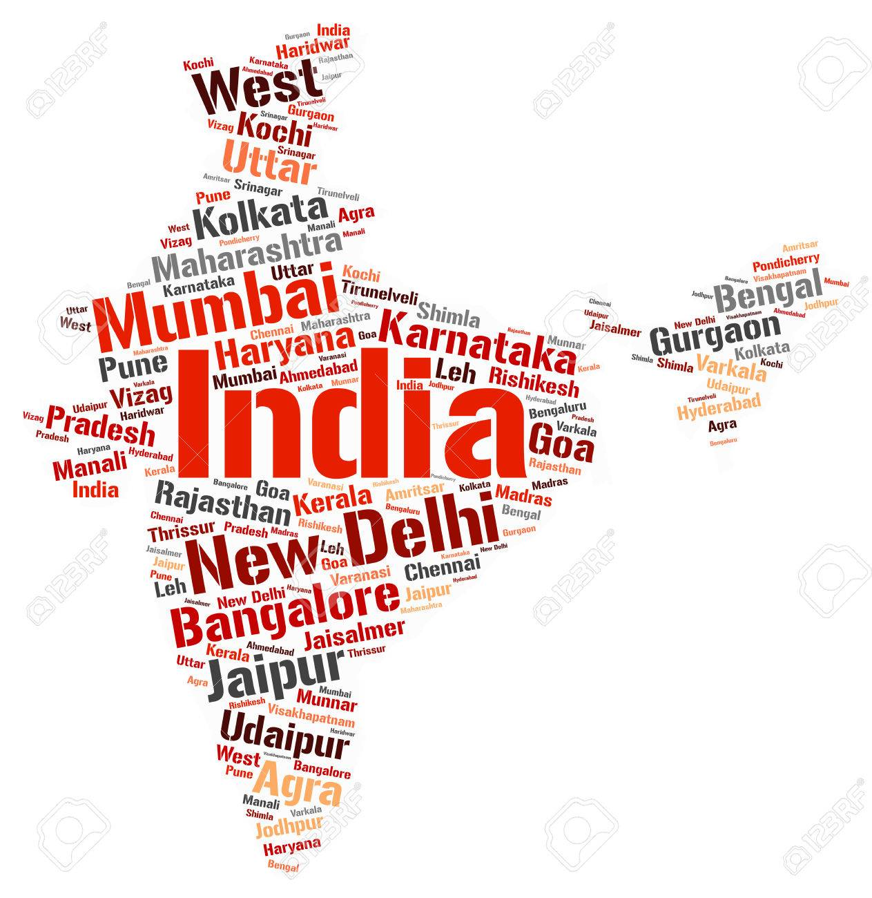 India map silhouette word cloud with most por travel destinations on word map dubai, word map world, word map italy, word map saudi arabia, word map english, word map language,