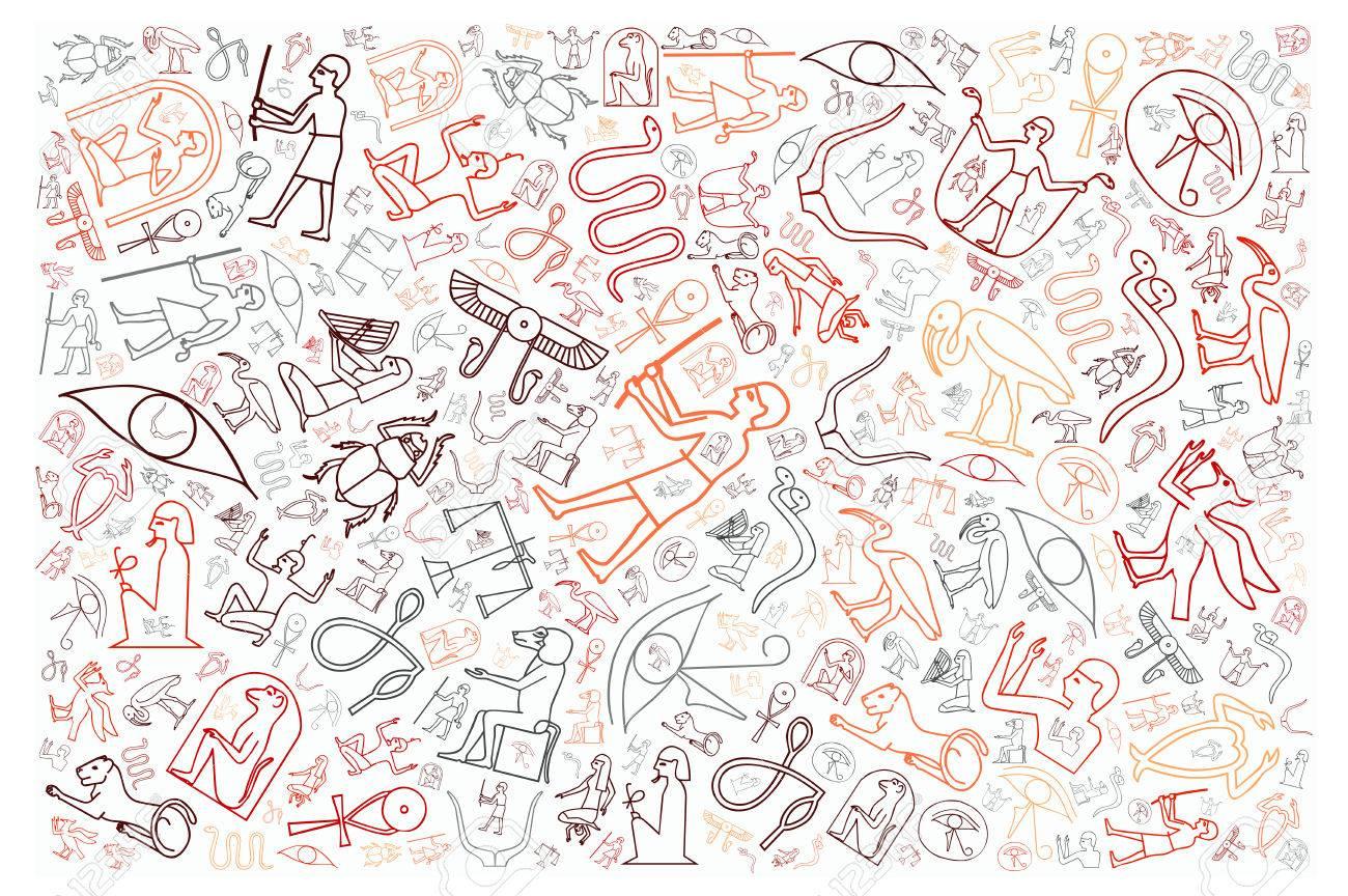 Hieroglyphics Background