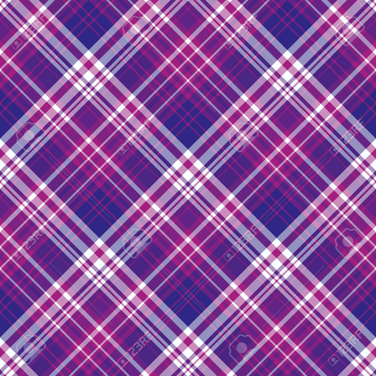 Seamless pattern in bright violet, purple and white colors for plaid, fabric, textile, clothes, tablecloth and other things. Vector image. 2 - 168678362