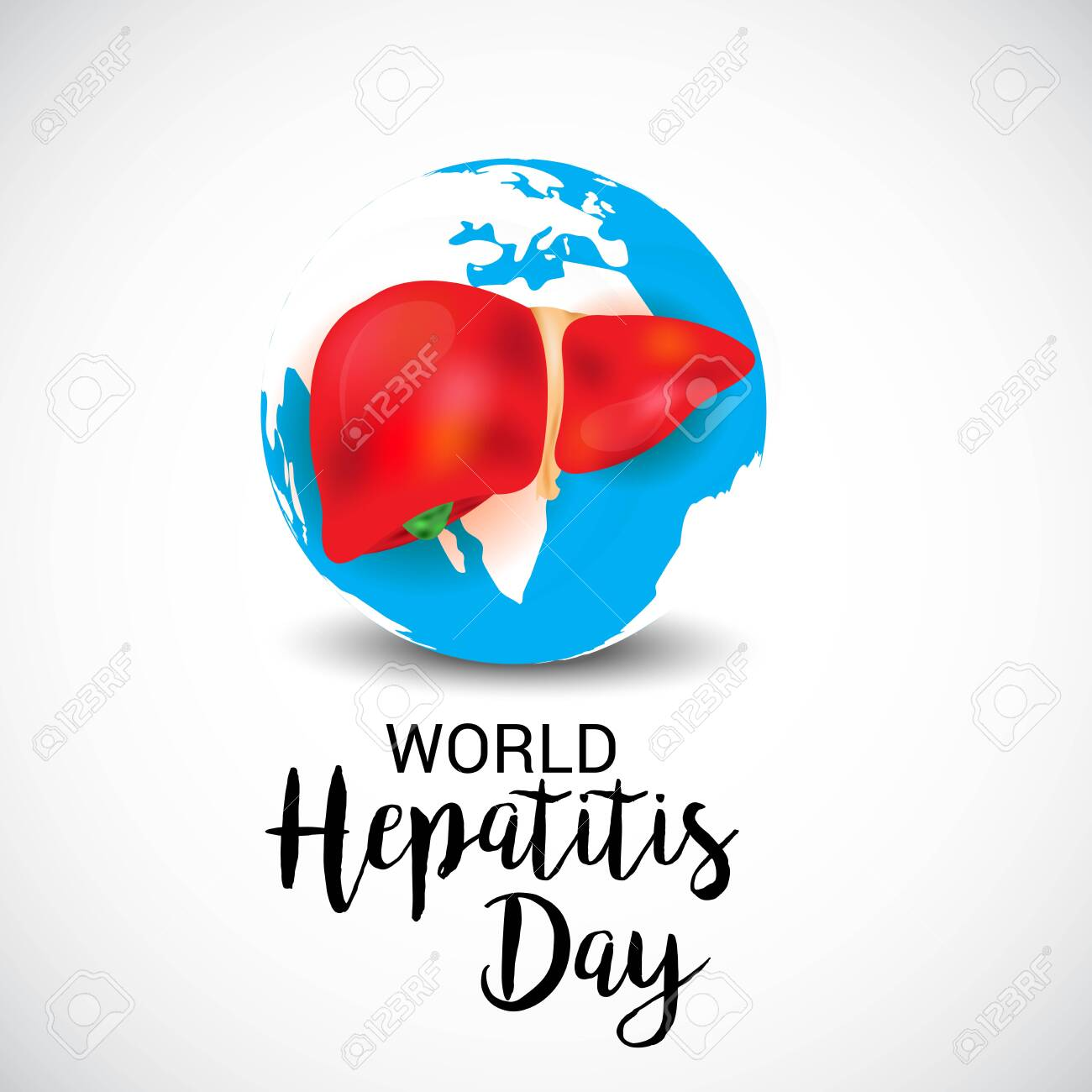 Vector illustration of a Background for World Hepatitis Day. - 134255966
