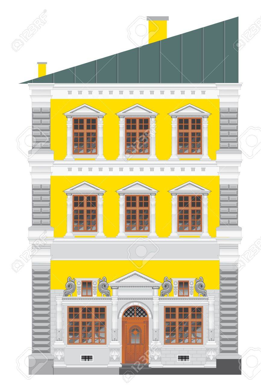 Romantic old house Stock Vector - 12944493
