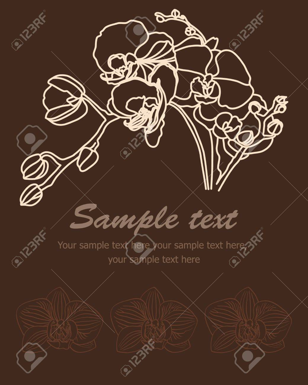 Retro background  branch of orchid Stock Vector - 12944492