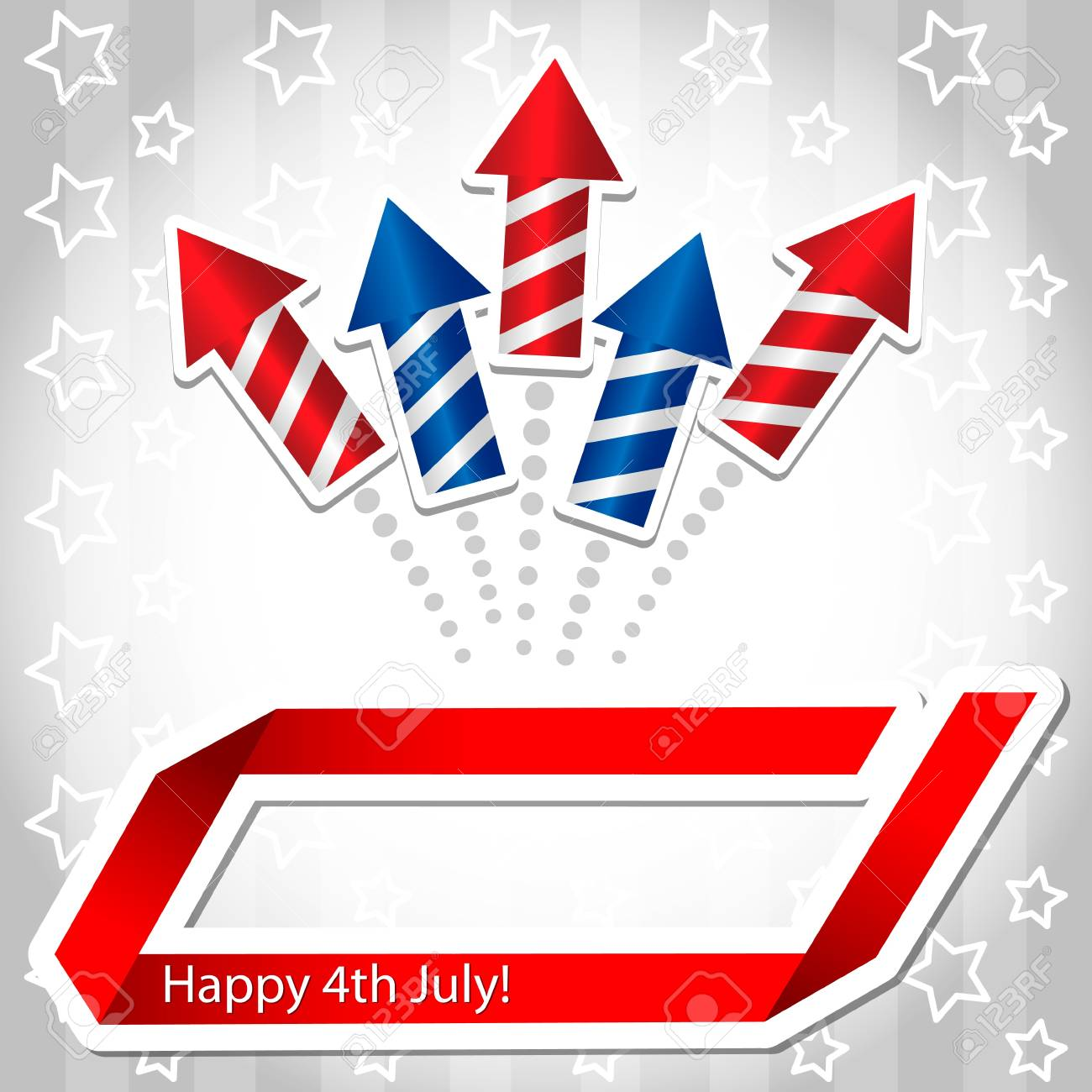 4th july Rocket Background Stock Vector - 13913905