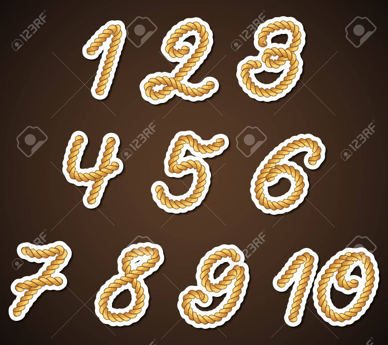 Rope Numbers, detailed design elements Stock Vector - 16169339