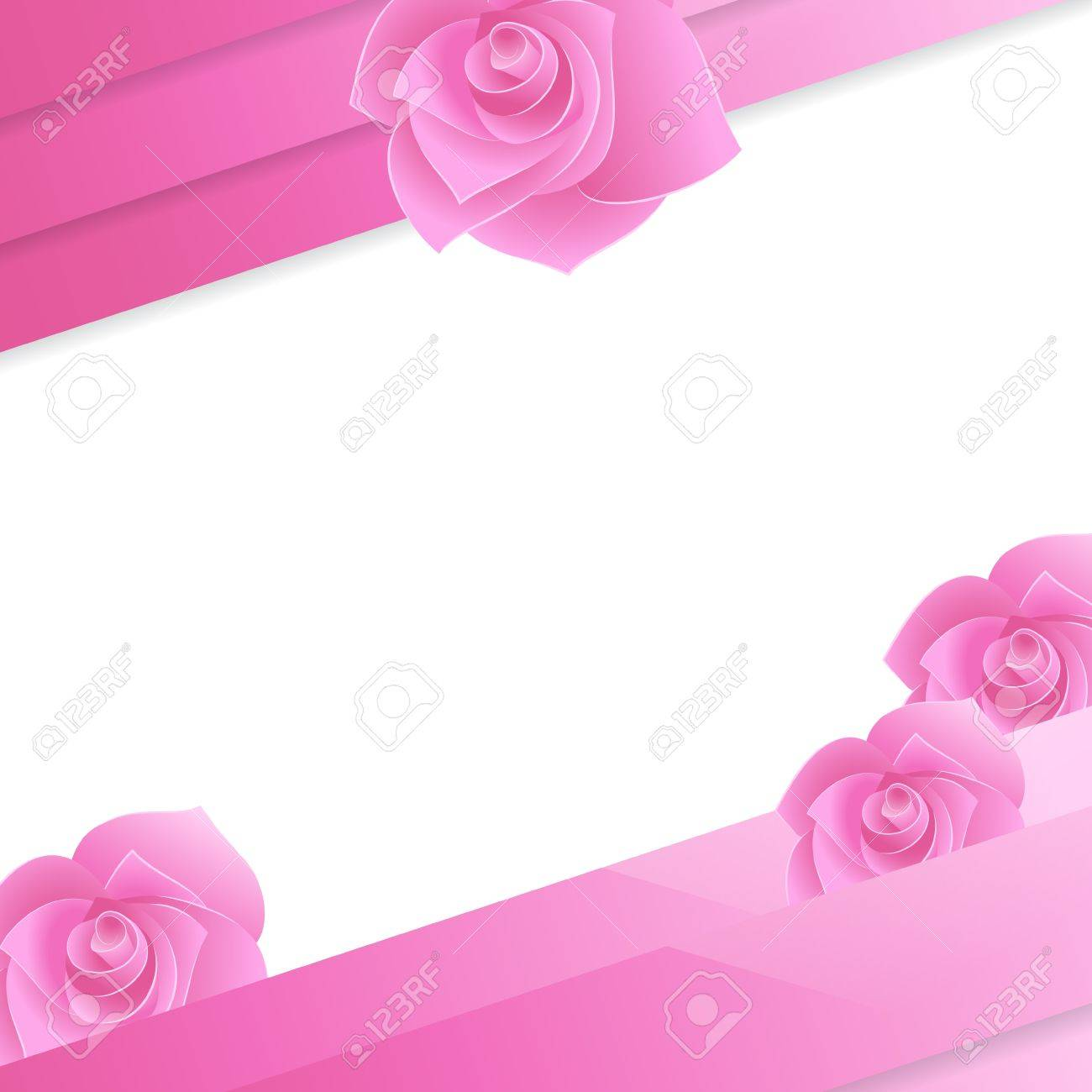 Abstract paper invitation with rose Stock Vector - 19020414