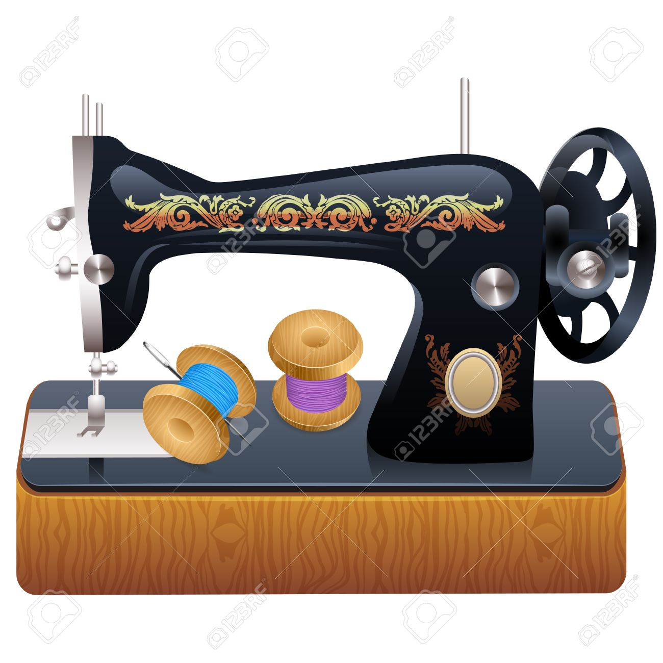 Sewing Machine Vector Royalty Free Cliparts Vectors And Stock