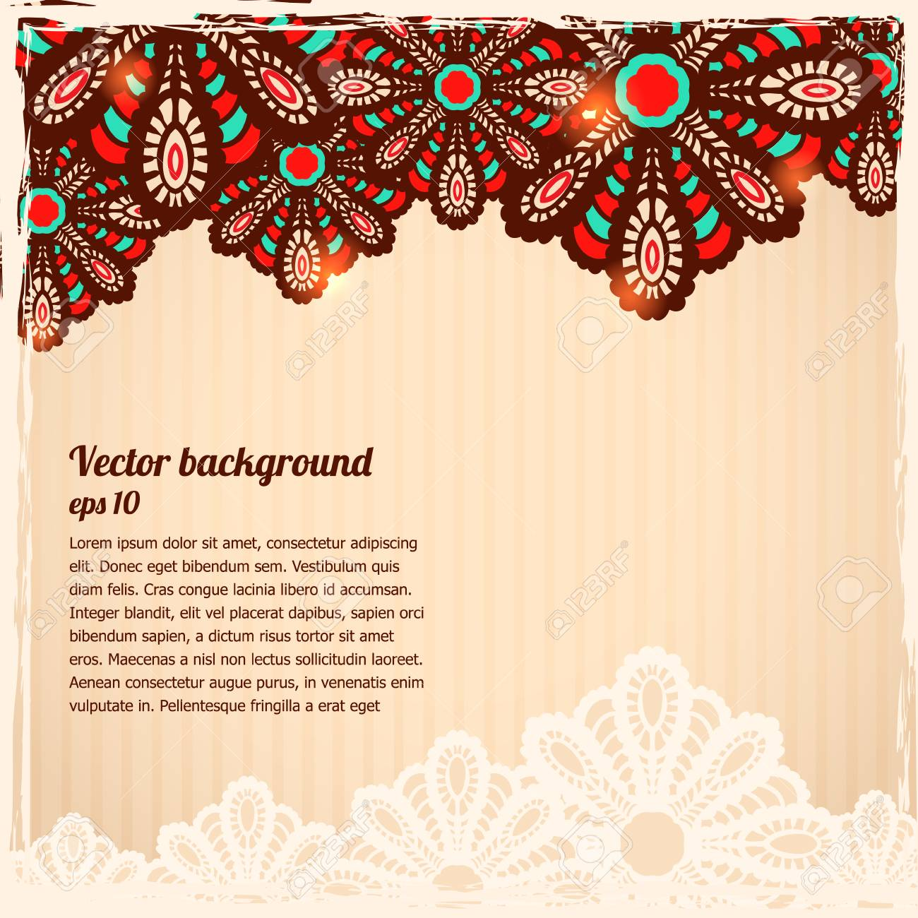 Beautiful paisley background Stock Vector - 22347988
