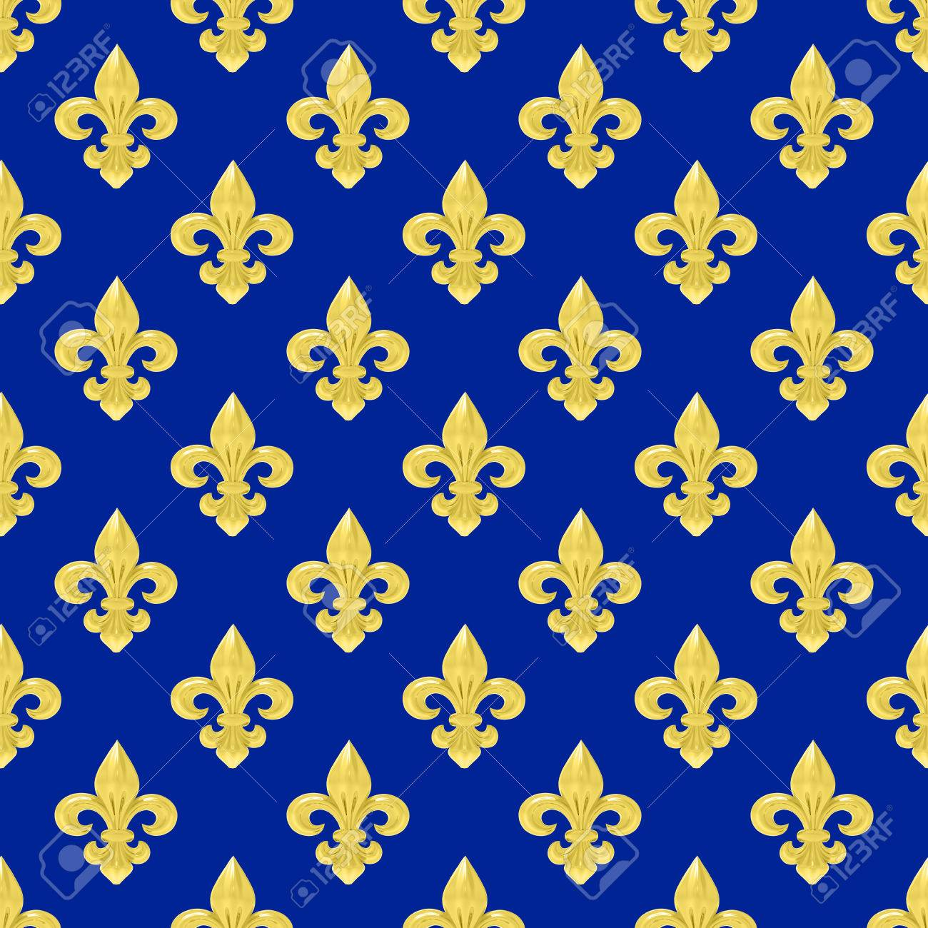 seamless of a fleur de lys repeating pattern stock photo picture
