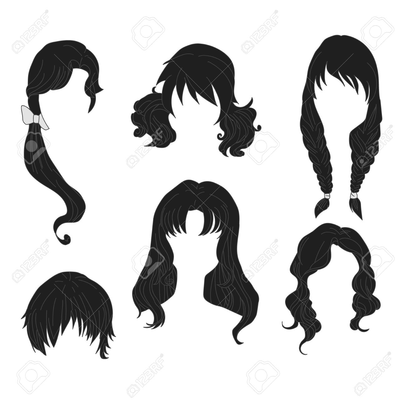 Peinados de mujer dibujo