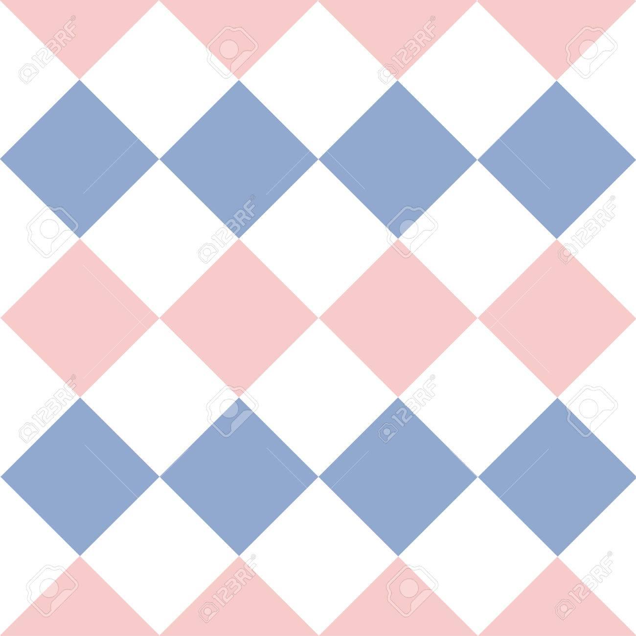 Rose Quartz Serenity White Diamond Background Vector Illustration