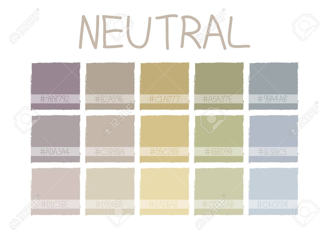 Neutral Color Tone with Code Vector Illustration Stock Vector - 56585699