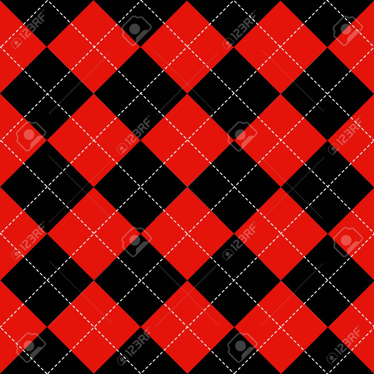 Red Black White Chess Board Diamond Background Vector Illustration