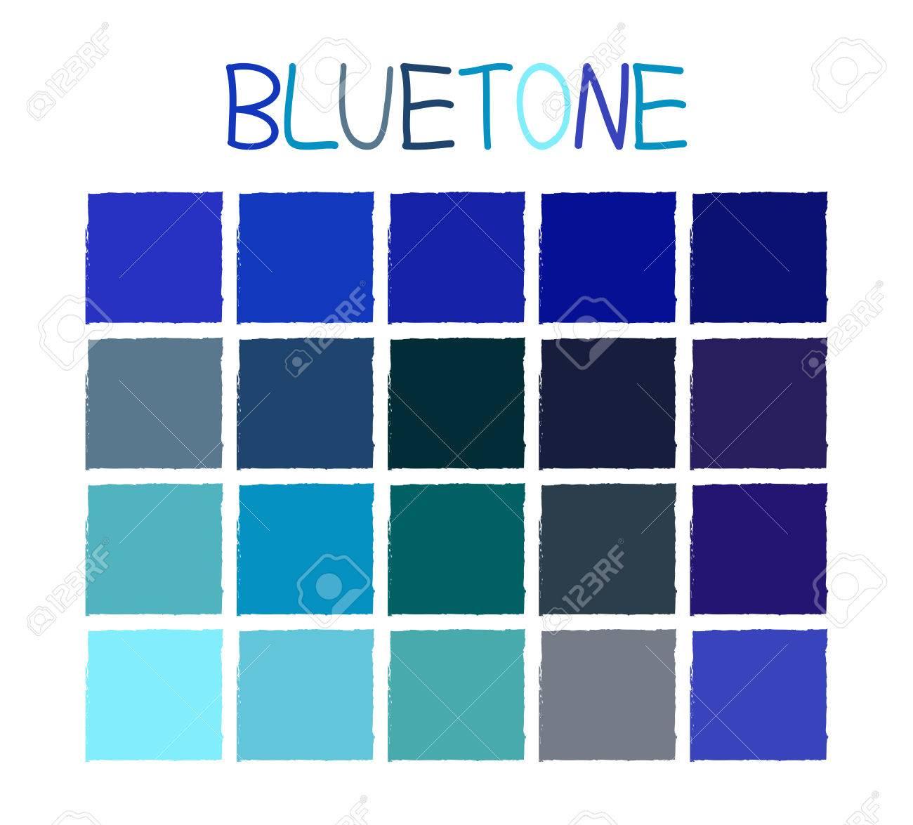 bluetone 色調名ベクトル図なし ロイヤリティフリークリップアート