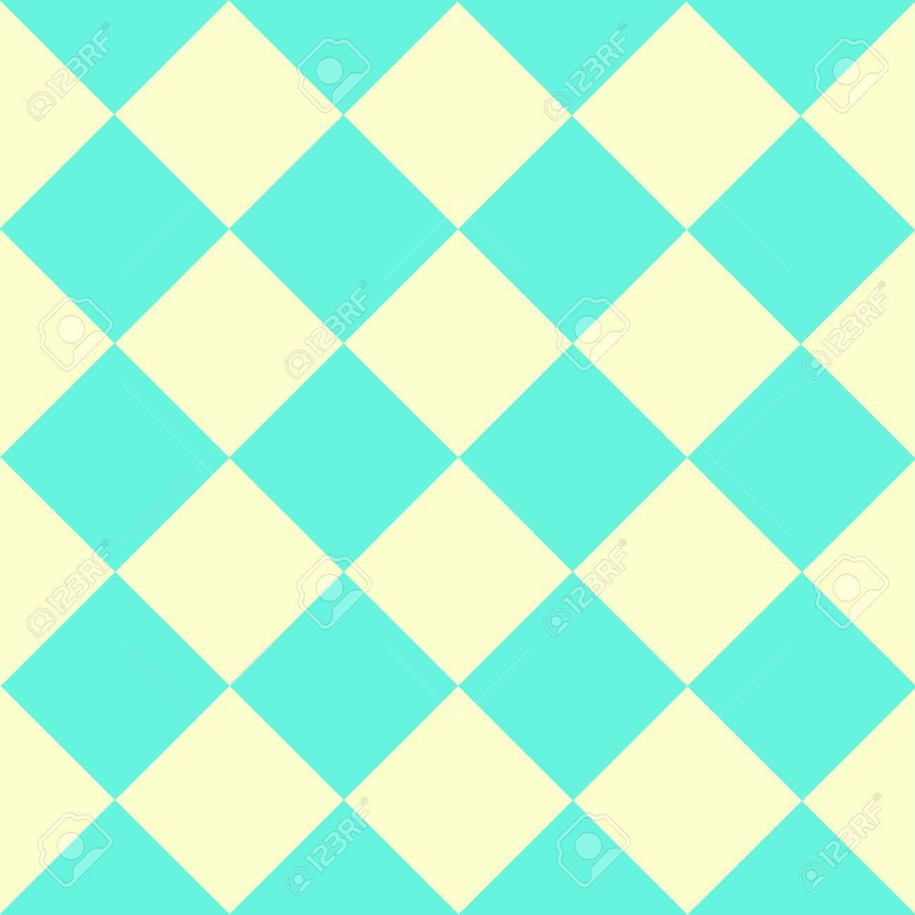 Green Yellow Chess Board Diamond Background Vector Illustration