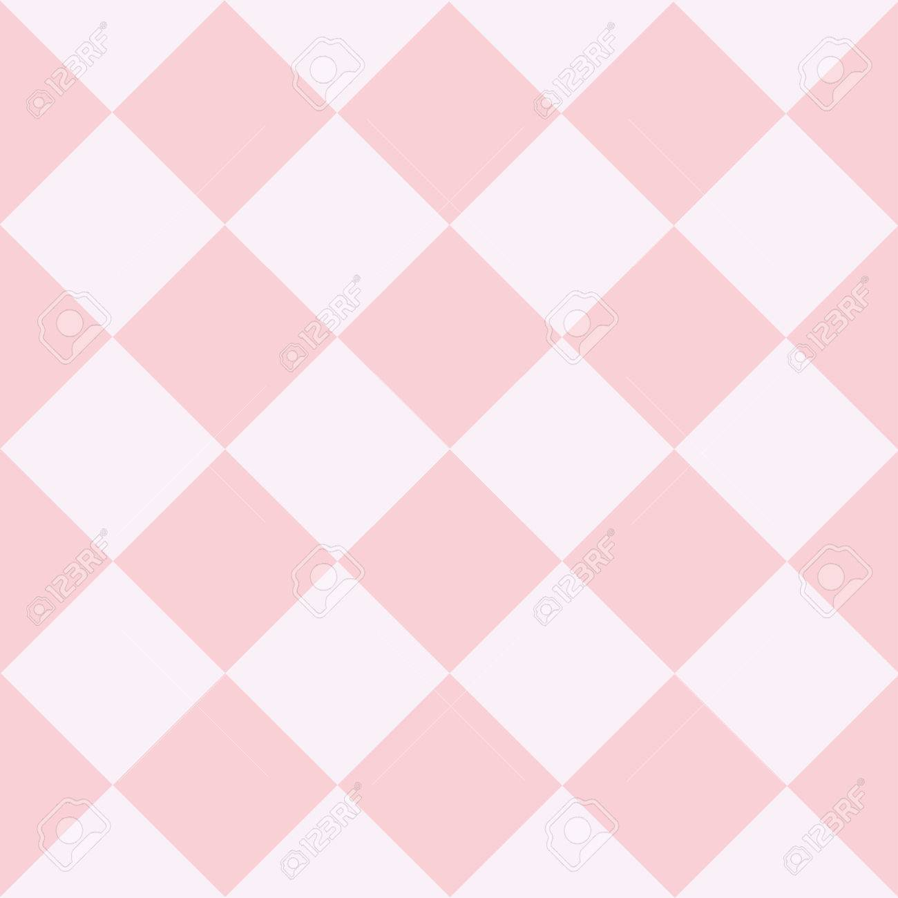 Pink White Chess Board Diamond Background Vector Illustration