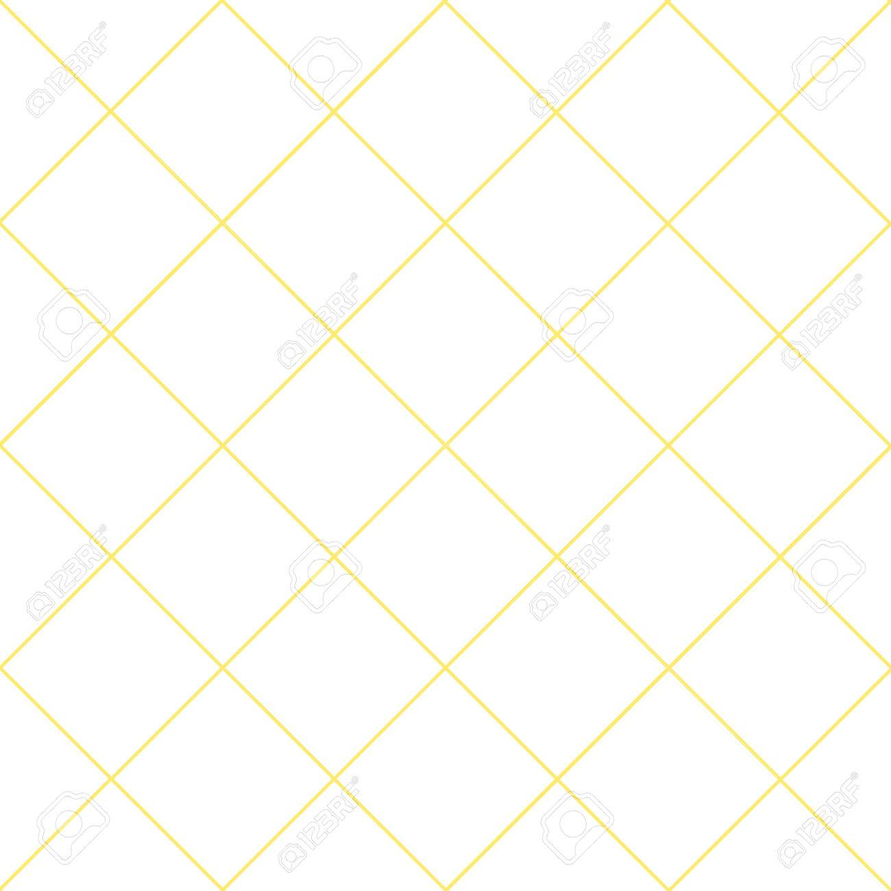 Yellow Grid White Diamond Background Vector Illustration