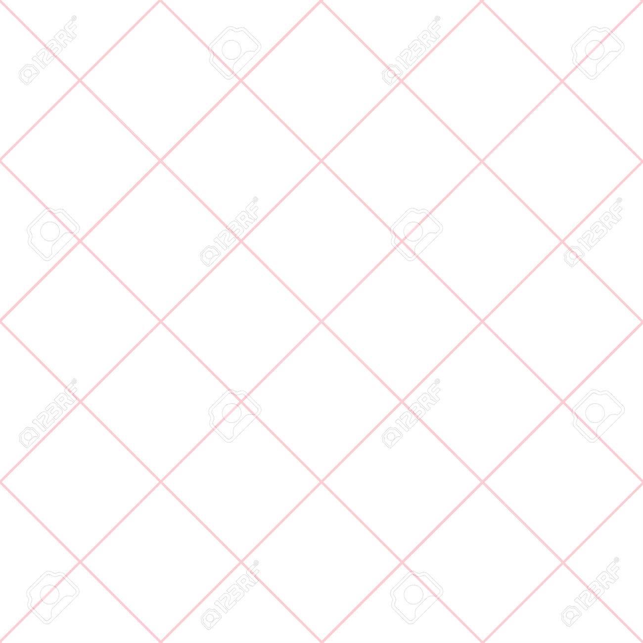 Pink Grid White Diamond Background Vector Illustration