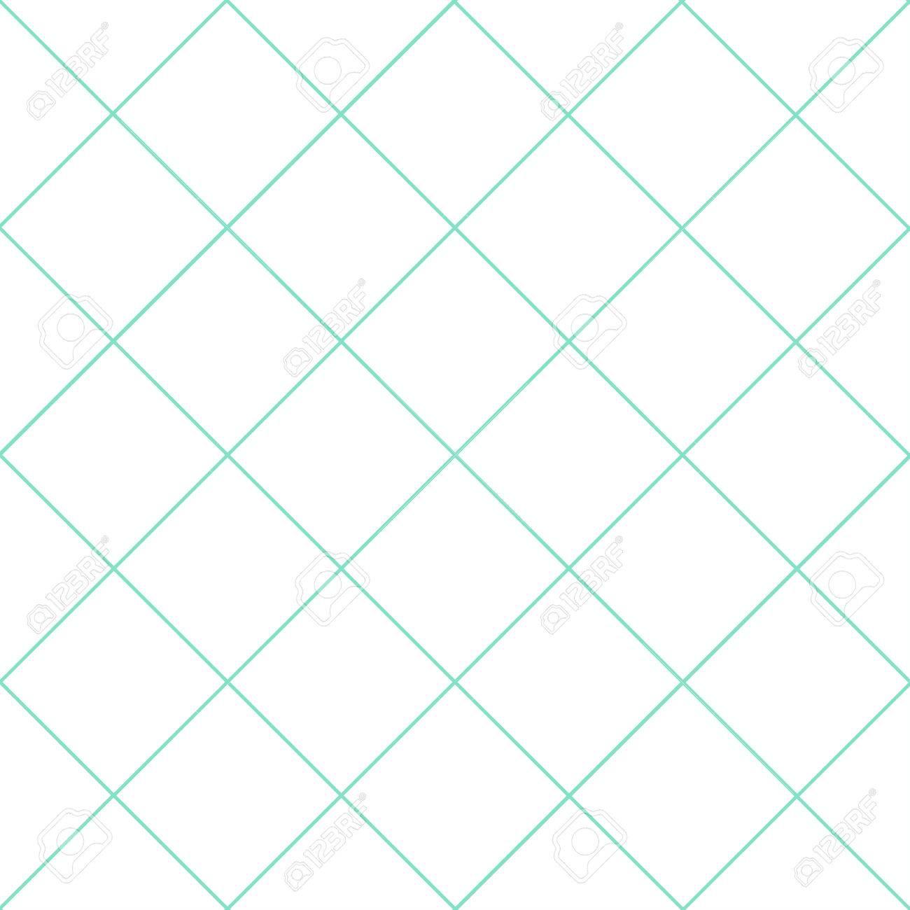 Mint Green Grid White Diamond Background Vector Illustration