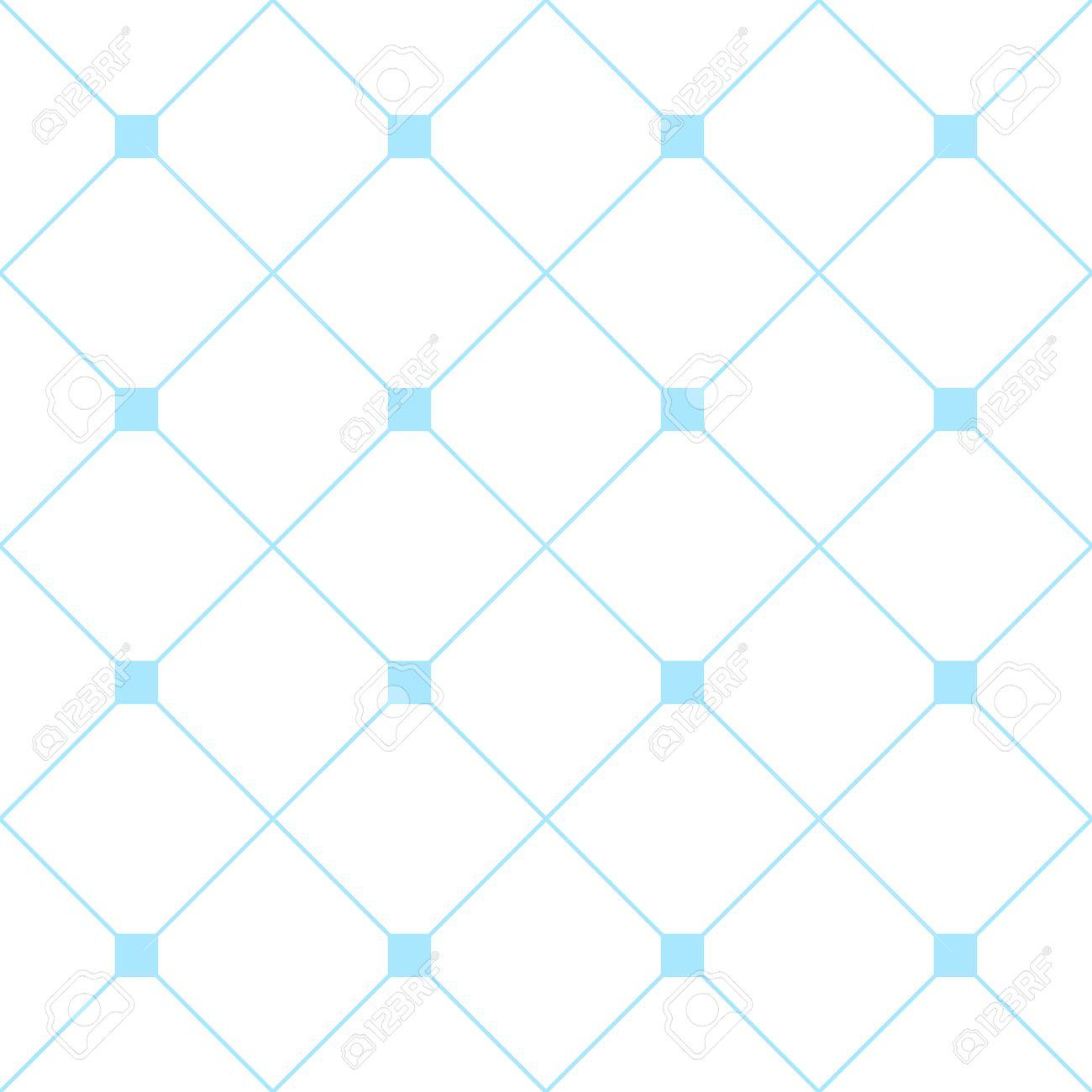 Light Blue Square Diamond Grid White Background Classic Minimal Pattern Texture Illustration Stock