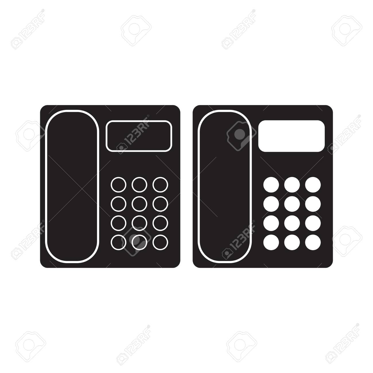 Office Phone icon Vector Illustration  Telephone Flat Sign  isolated