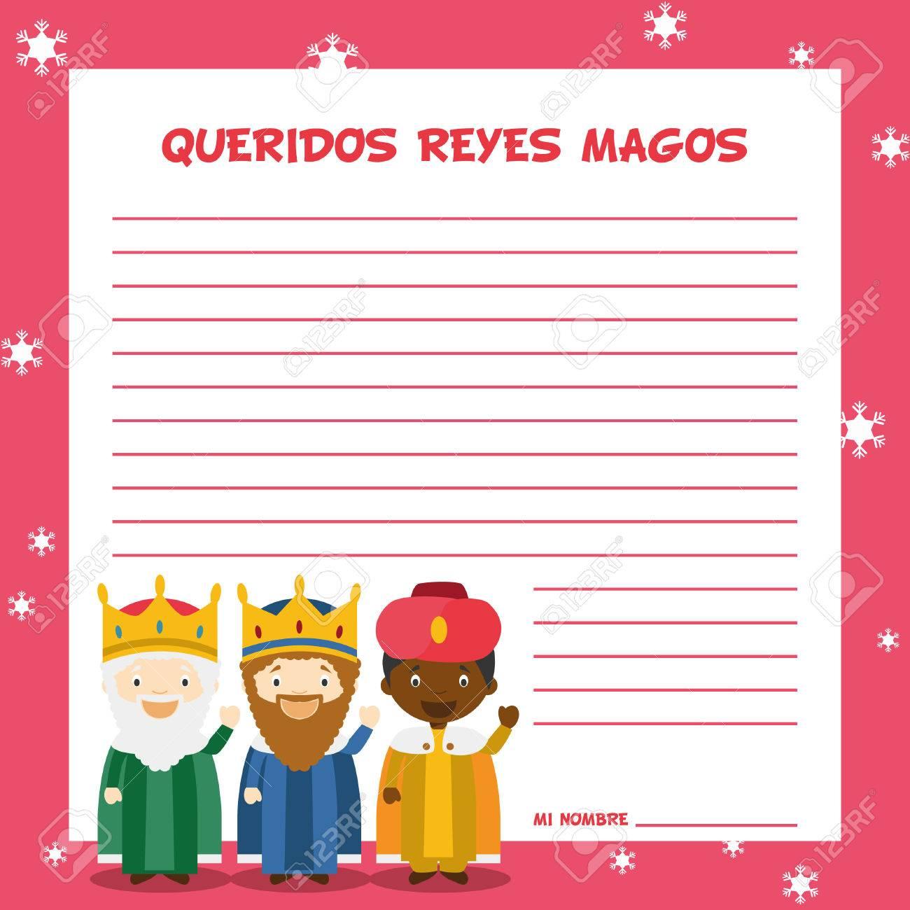 Drei Weise Männer Briefvorlage Illustration Für Weihnachten In