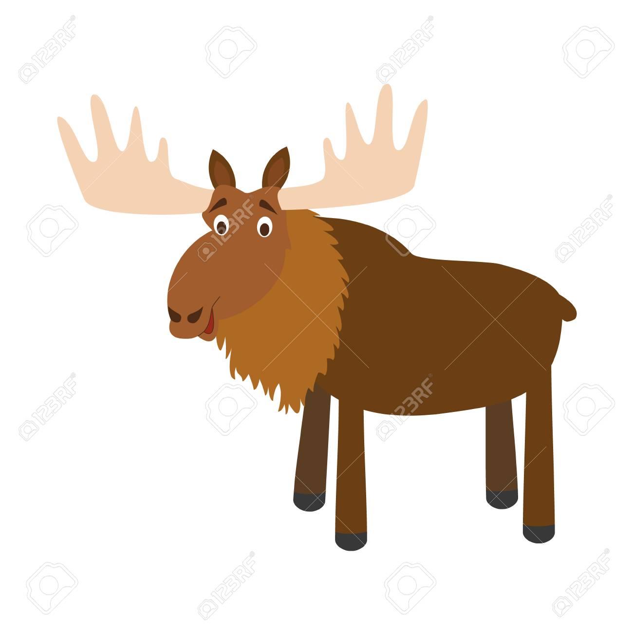 cute cartoon moose vector illustration royalty free cliparts rh 123rf com moose clip art silhouette mouse clipart