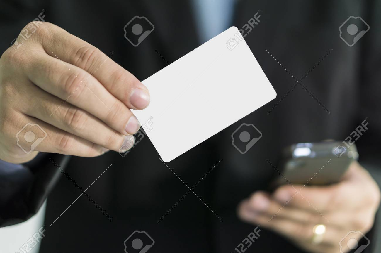 Businessman Showing Business Card ,Man\'s Hand Showing Business ...