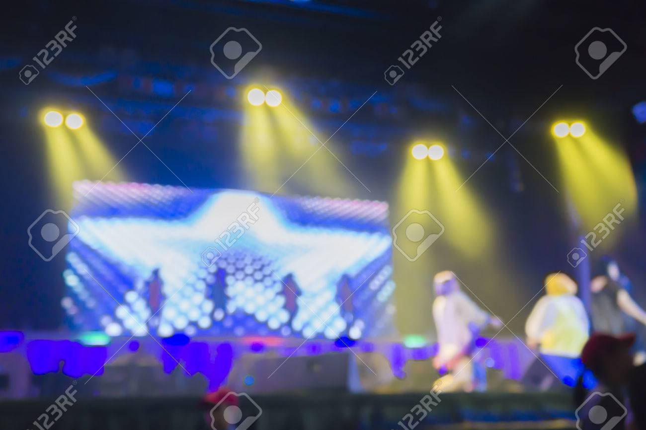 Blurred Background Of Night Bokeh Light,abstract Texture ... for Concert Stage Lights Background  55jwn