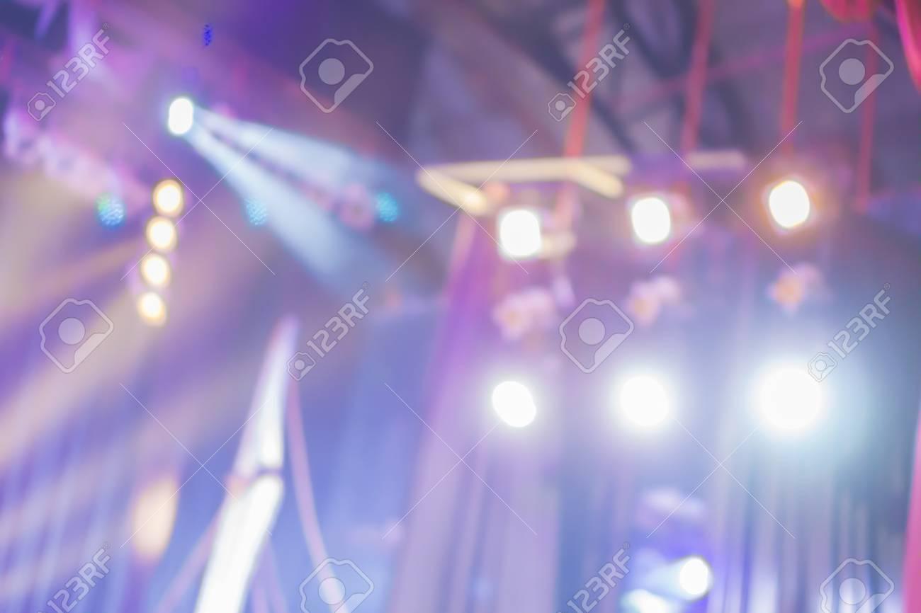 Blurred Background Of Night Bokeh Lightabstract Texture Concert Light IlluminationBlurred