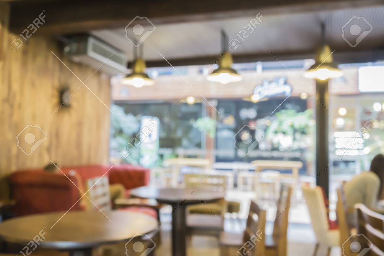 Blur Or Defocus Image Of Coffee Shop Or Cafeteria Customer At Stock Photo Picture And Royalty Free Image Image 56084154