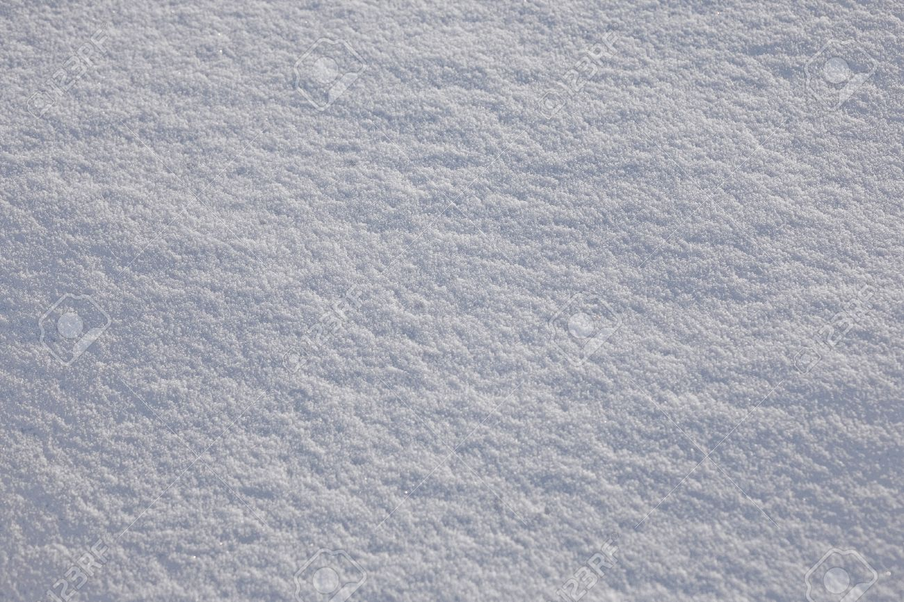 Full Frame Subtle Background Of Fresh White Powder Snow With.. Stock ...