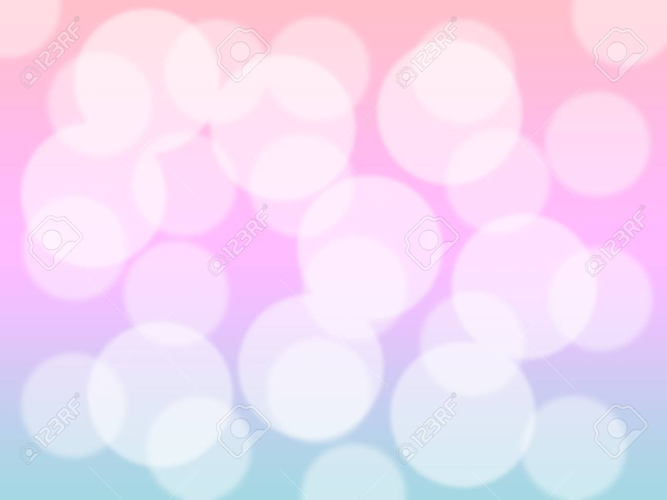 Soft Sweet Blurred Pastel Color Background With Bokeh Abstract
